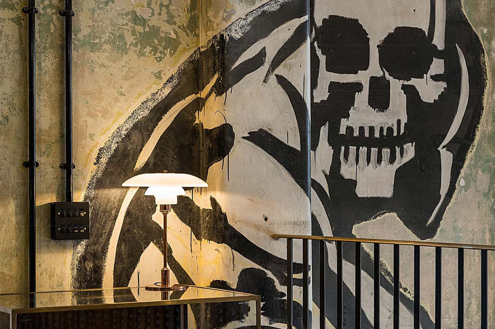 Skull wall art at Squire and Partners