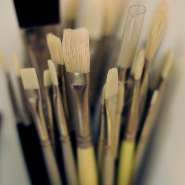Selection of paint brushes