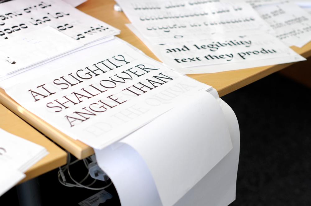 Dalton Magg typography on desk