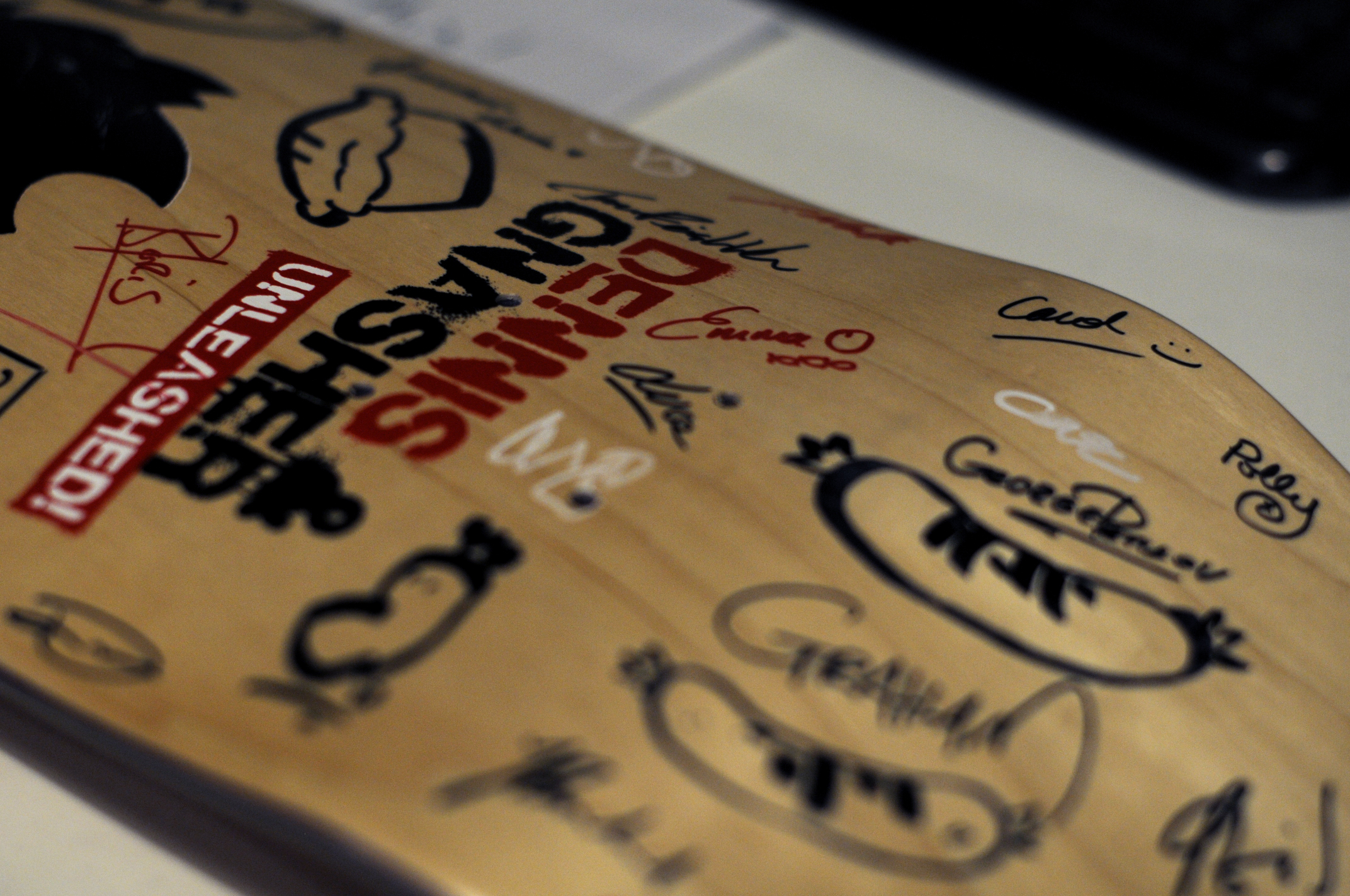 jellyfish skate deck signed