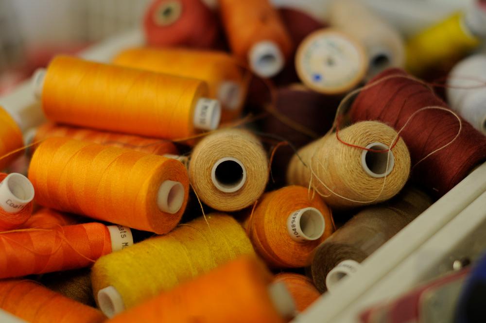 orange cotton reels