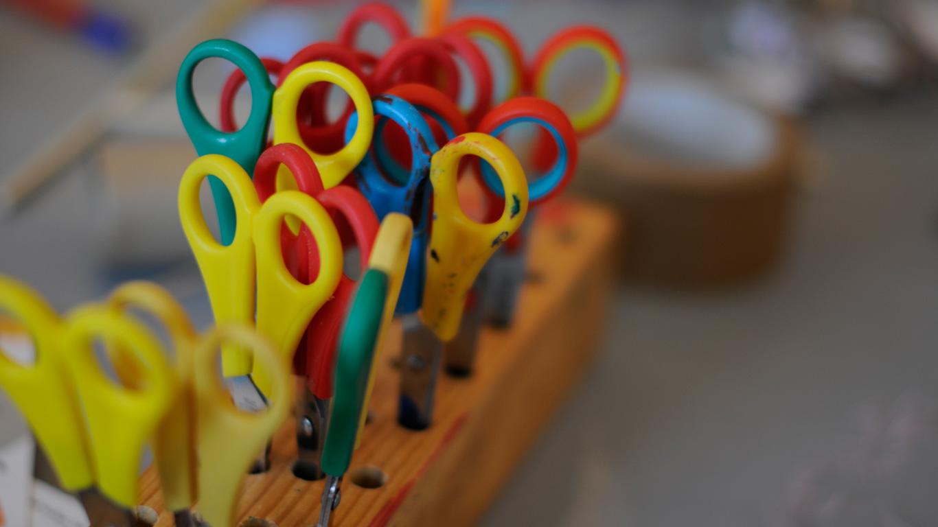 institute of imagination colourful scissor set