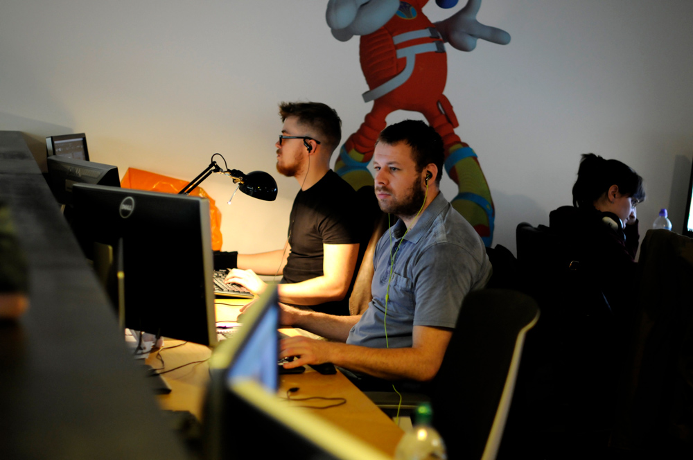 Jellyfish studio team at desks
