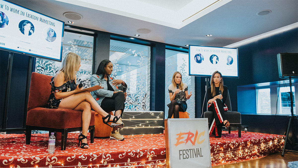 Four women at a panel discussion, ERIC Festival