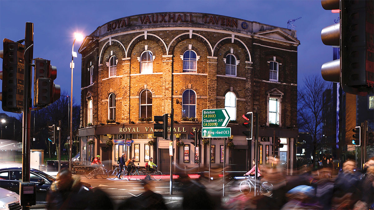Image of the outside of Royal Vauxhall Tavern