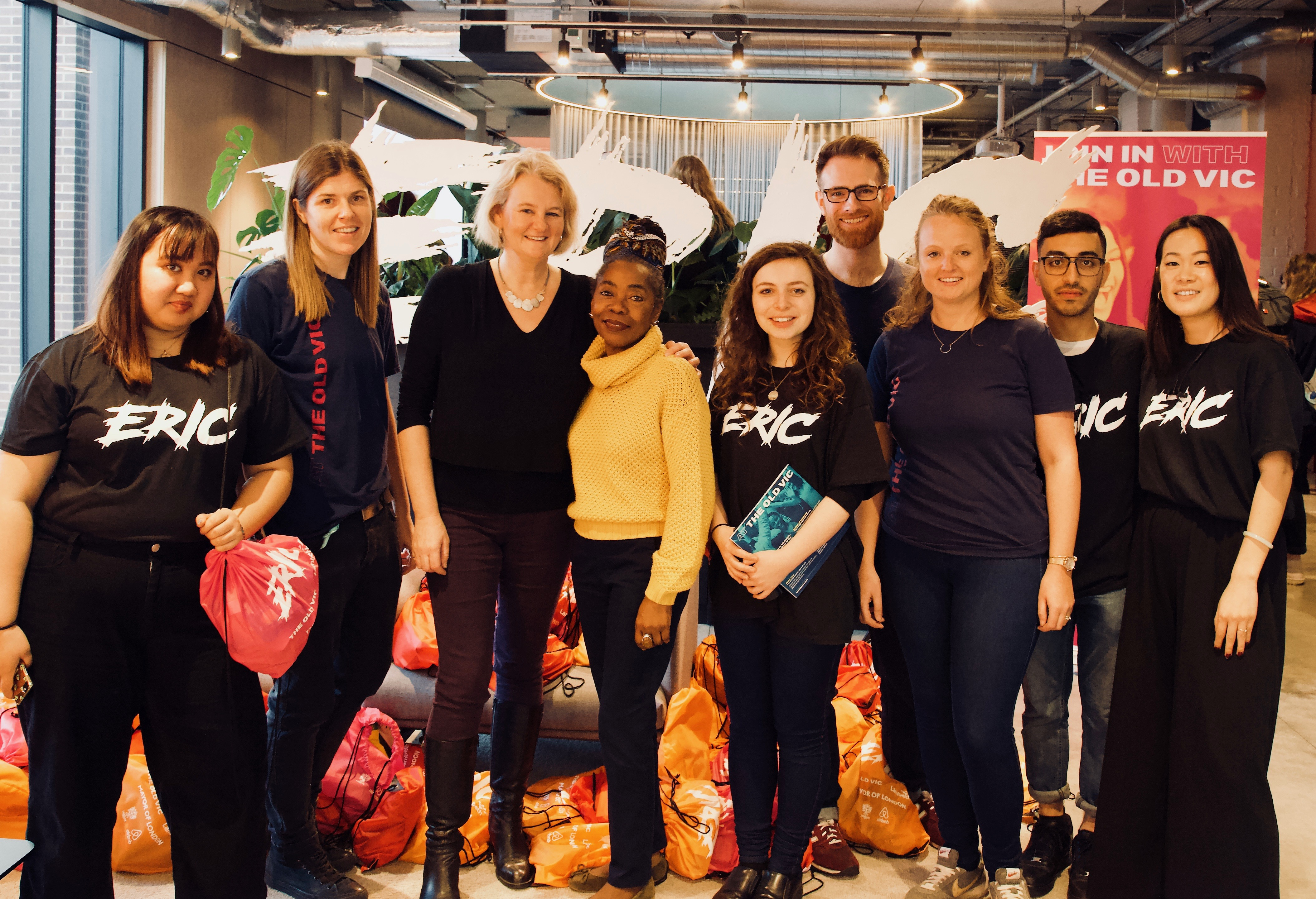 Photo: Cllr Lib Peck (Leader of the Council) and Cllr Sonia Winifred (Cabinet Member for Equalities and Culture) with the team from ERIC and The Old Vic.